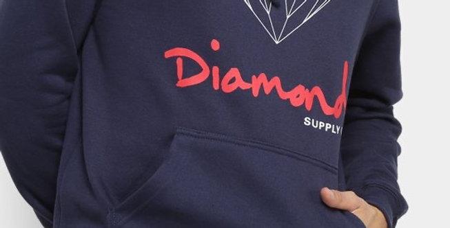 Moletom Diamond Og Sign Hoodie - Navy