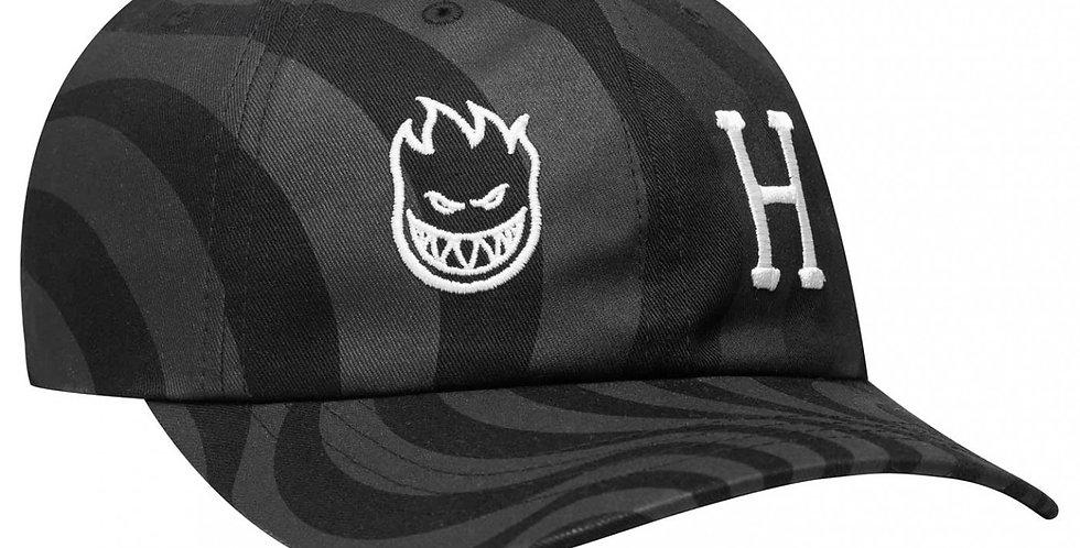 Dad Hat HUF X Spitfire Swirl CV - Black