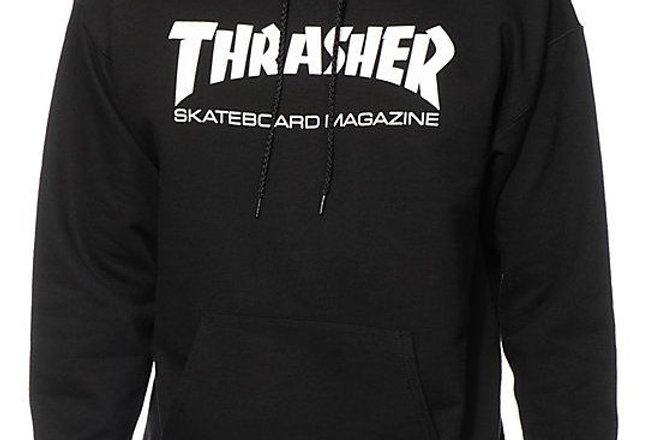 Moletom Thrasher Mag Logo - Black