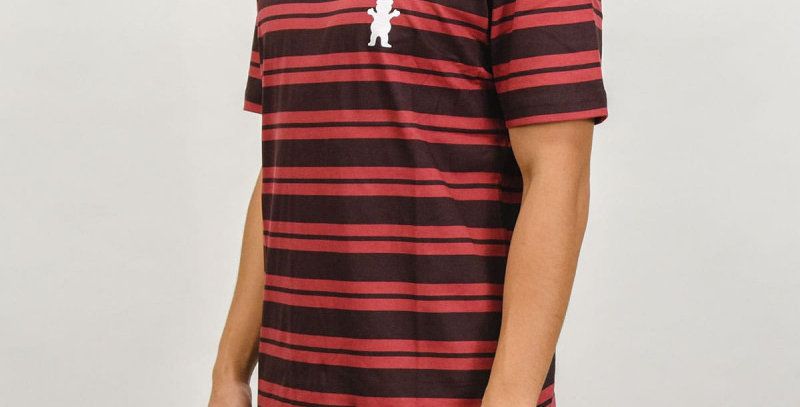 Camiseta Grizzly Bear Striped Tee - Red