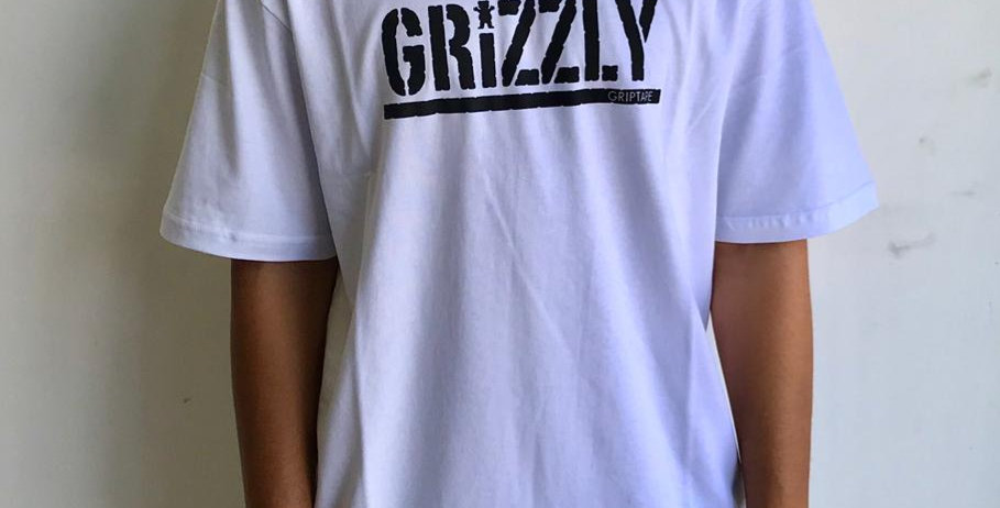 Camiseta Grizzly Stamped - White