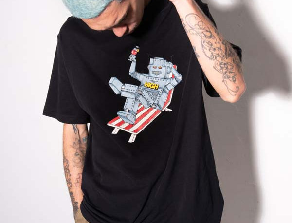 Camiseta HIGH Tee Robot - Black