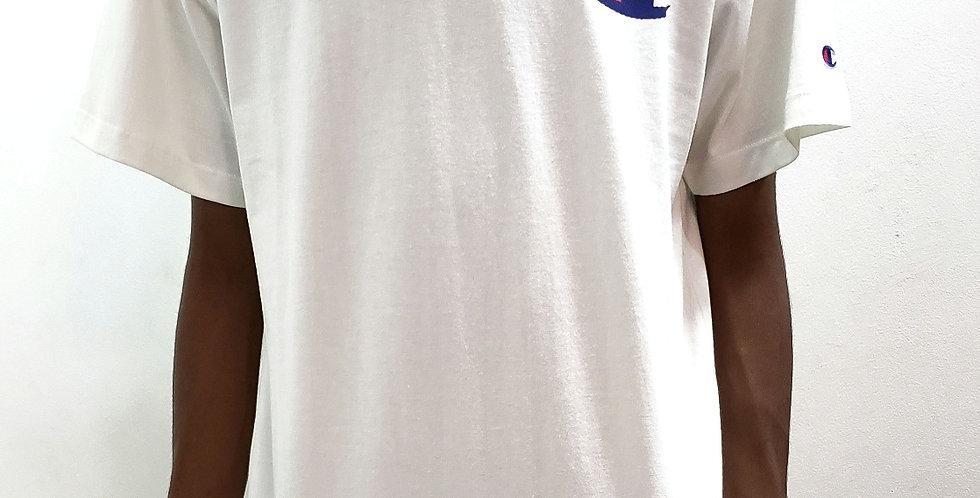Camiseta Champion C Logo Ink - White