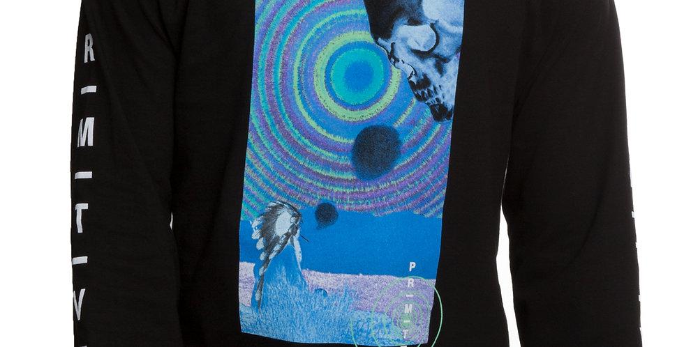 Camiseta Long Sleeve Primitive Spirit Plain Tee - Black
