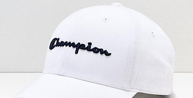 Boné Champion Aba Curva Bordado Strapback - White