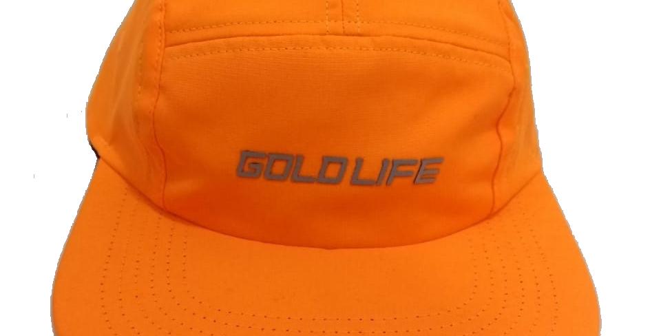 Boné Five Panel Gold Life Logo Refletivo - Orange
