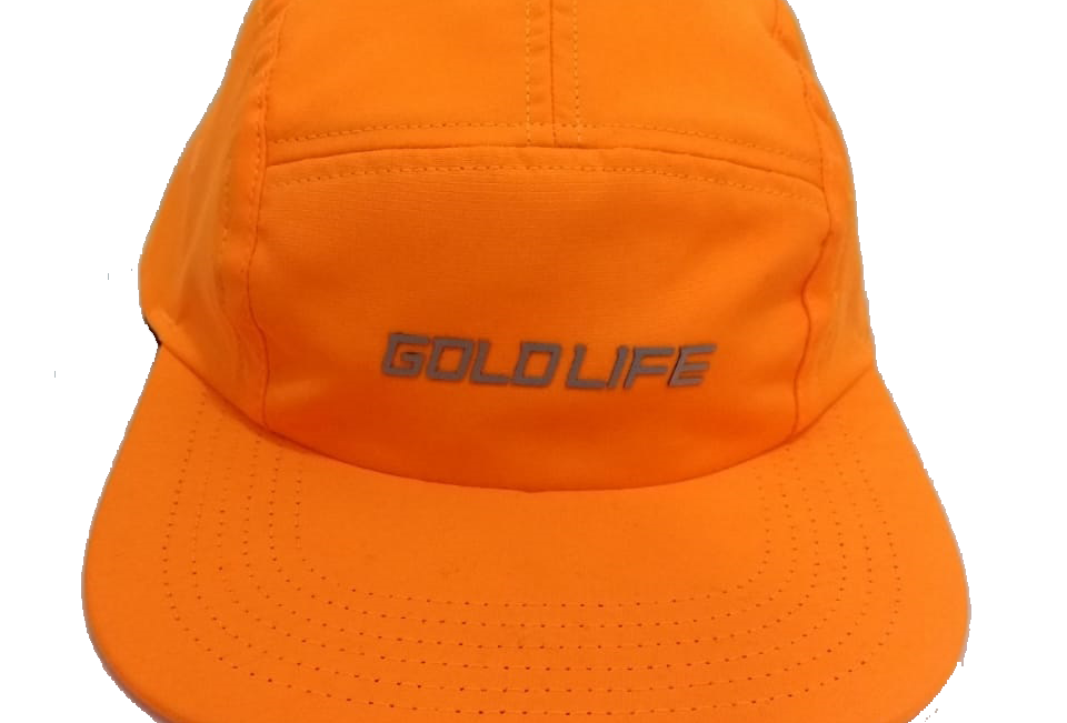 Boné Five Panel Gold Life Logo Refletivo - Orange