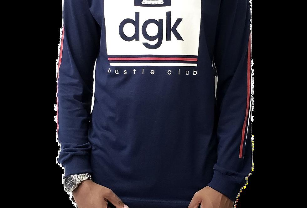 Camiseta Long Sleeve DGK Hustle - Navy