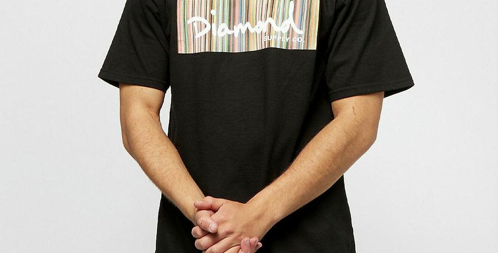 Camiseta Diamond Color Ply Box Logo Tee - Black