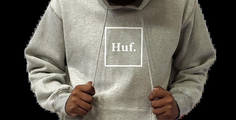 Moletom HUF Box Logo Pullover Hoodie - Grey