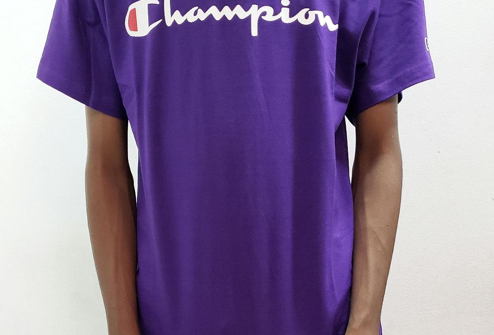Camiseta Champion Script Logo Ink - Purple