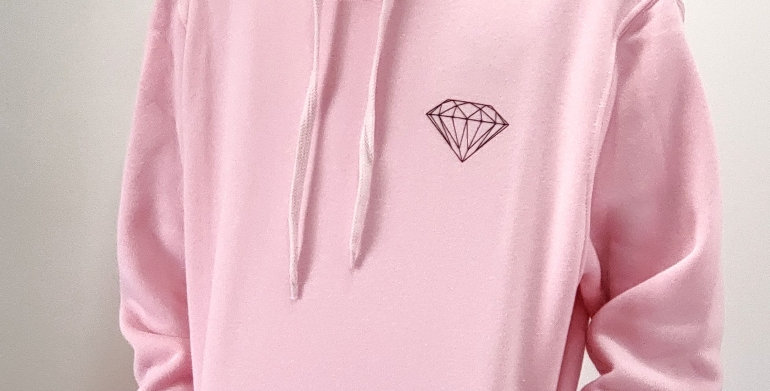 Moletom Diamond OG Brilliant Hoodie - Pink