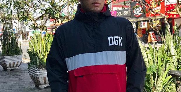 Corta Vento DGK Blocked - Red / Black