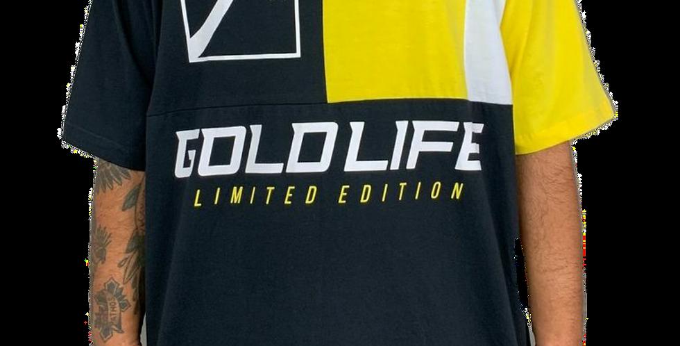 Camiseta Gold Life Limited Edition - Black