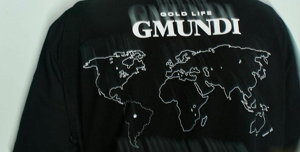 Camiseta Gold Life G Mundi - Black