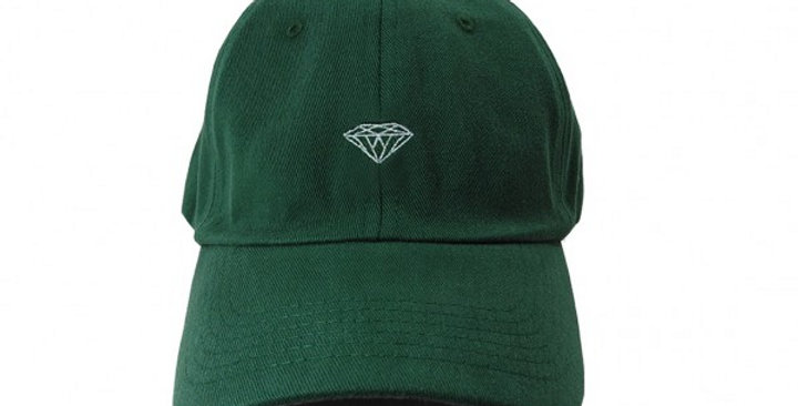 Boné Diamond Micro Brilliant Dad Hat Strapback - Forest Green