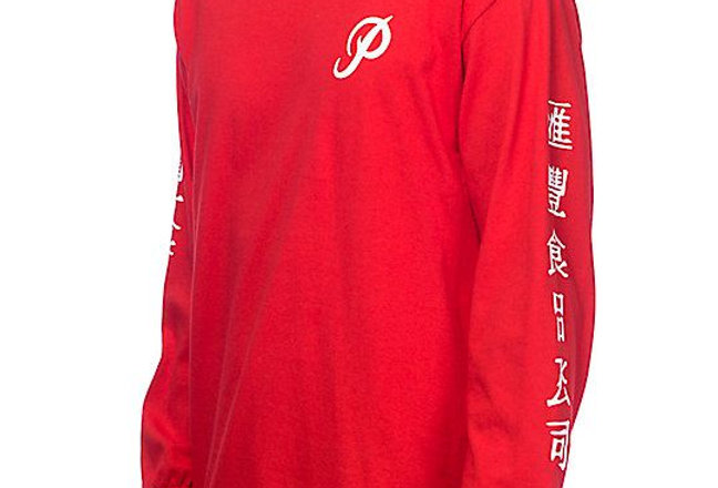 Camiseta Long Sleeve Primitive X Huy Fong Foods - Red