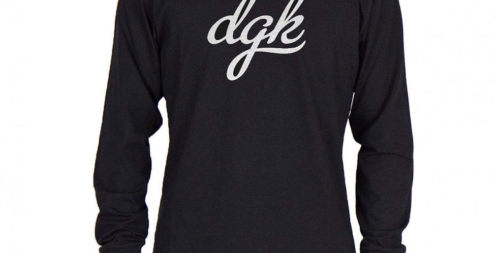 Camiseta Long Sleeve DGK Script - Black