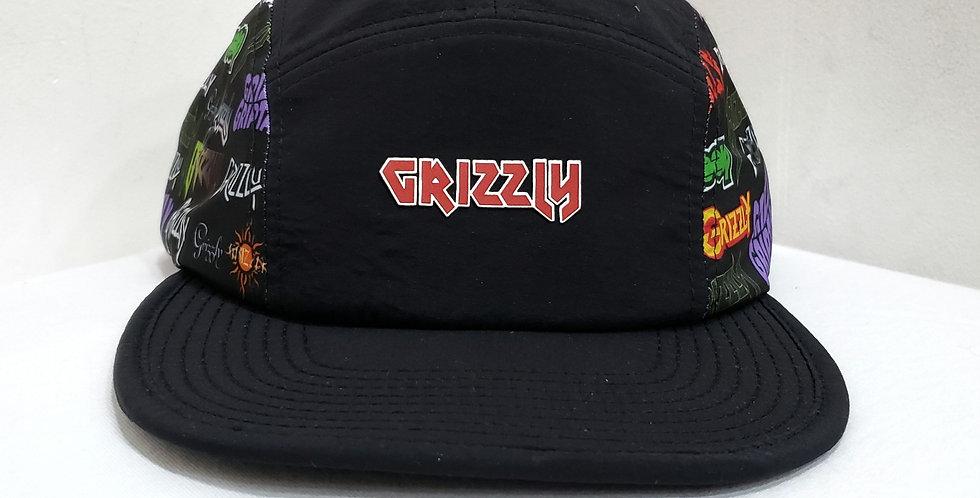 Boné Grizzly Grizzfest Camper 5panel Clipback Hat - Black