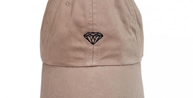 Boné Diamond Micro Brilliant Dad Hat Strapback - Cream