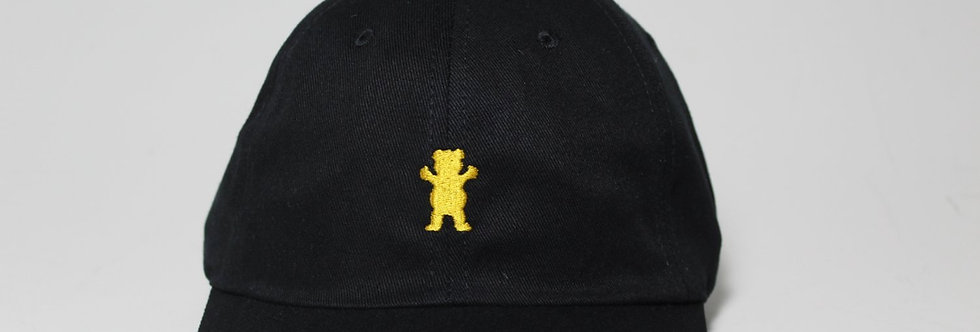 Boné Grizzly OG Bear Logo Dad Hat Strapback - Black