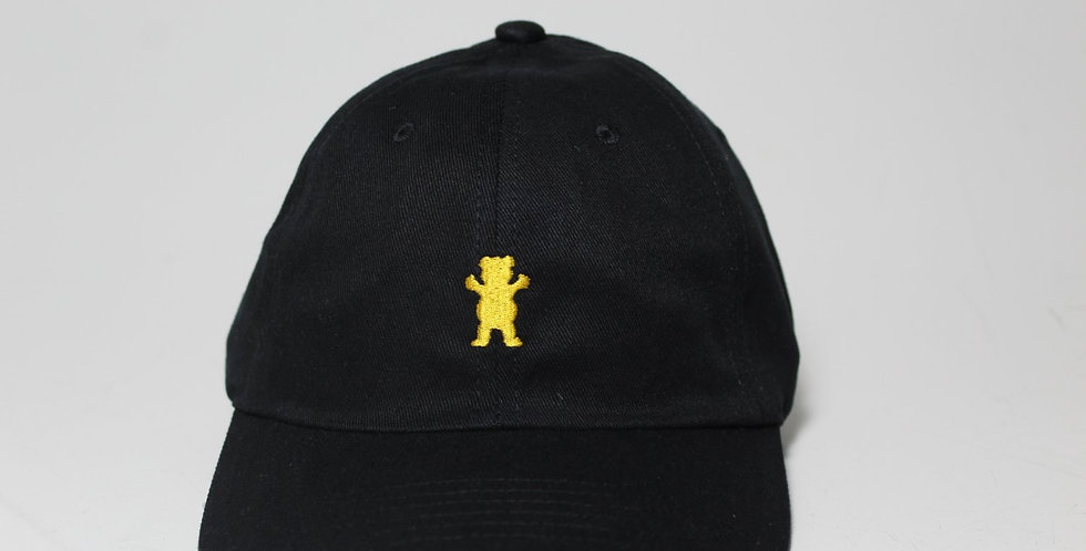 Boné Grizzly OG Bear Logo Dad Hat Strapback - Black