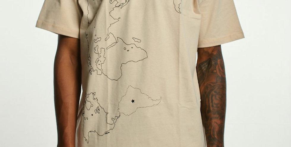 Camiseta Gold Life Continental - Beige