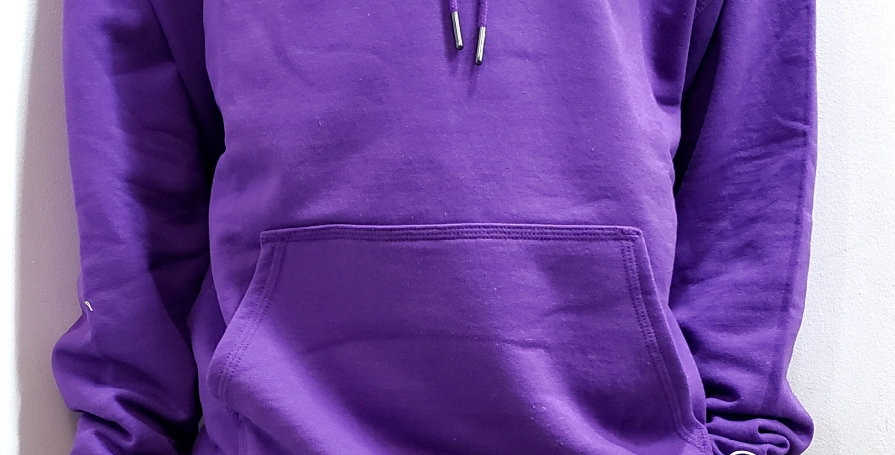 Moletom Champion Powerblend Graphic Patch Logo Hoodie - Purple