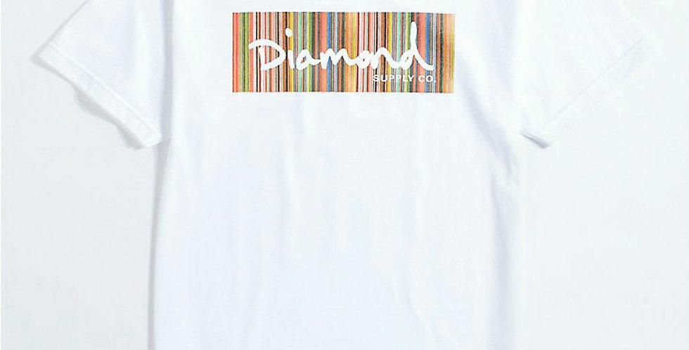 Camiseta Diamond Color Ply Box Logo Tee - White