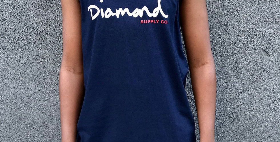Regata Diamond Og Script Tank - Navy