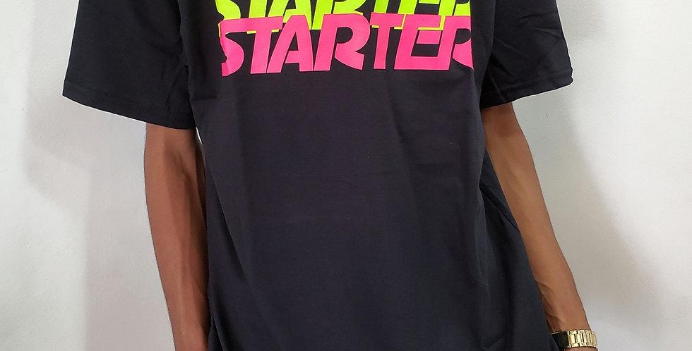 Camiseta Starter Logo Colors - Black