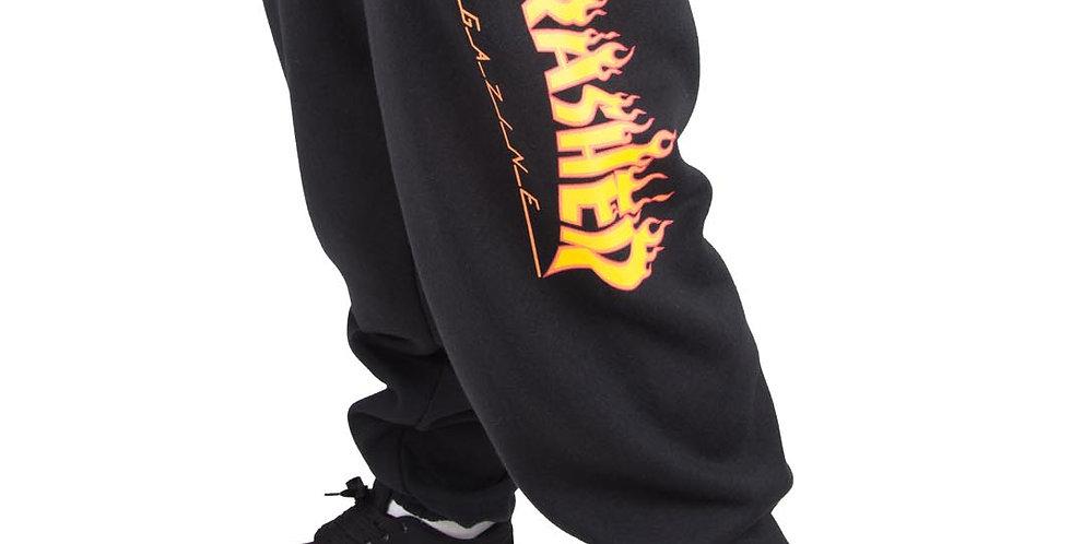 Calça Sweatpant Thrasher Mag Flame - Black