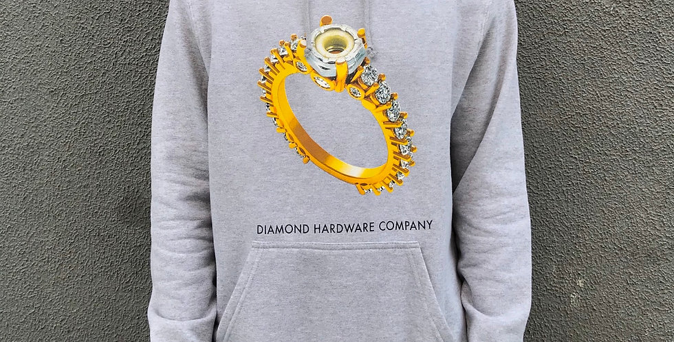 Moletom Diamond Hardware Ring Hoodie  - Cinza
