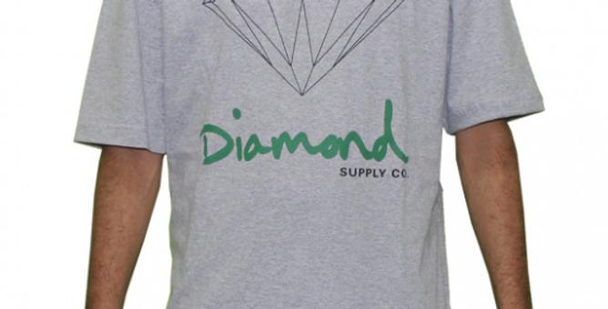 Camiseta Diamond OG Sign - Cinza Mescla