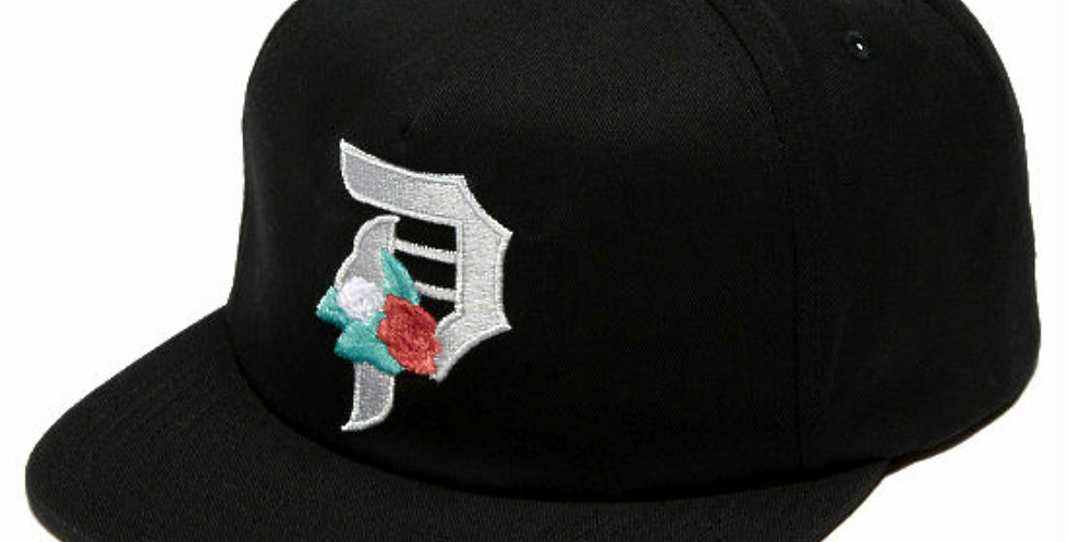 Boné Primitive Dos Flores 6panel Unstructured Strapback Hat - Black