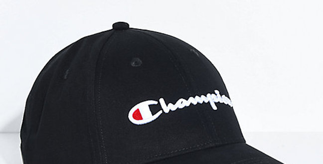 Boné Champion Classic Twill Black Strapback Hat - Black