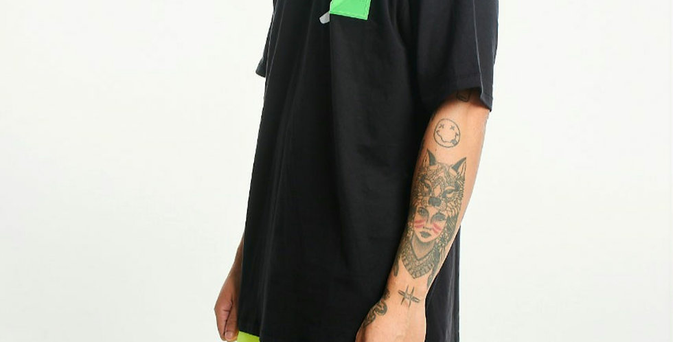 Camiseta Gold Life Green Patch  - Black