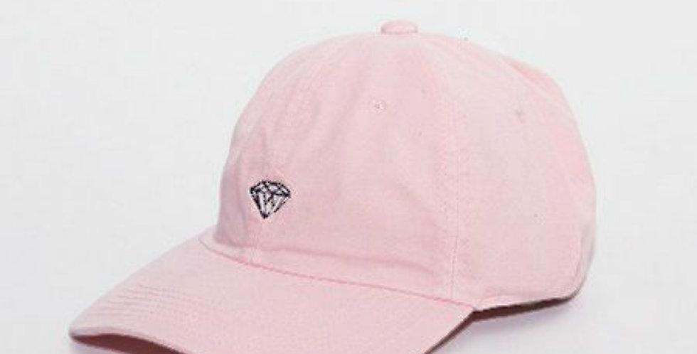 Boné Diamond Supply Micro Brilliant Dad Hat Strapback - Pink