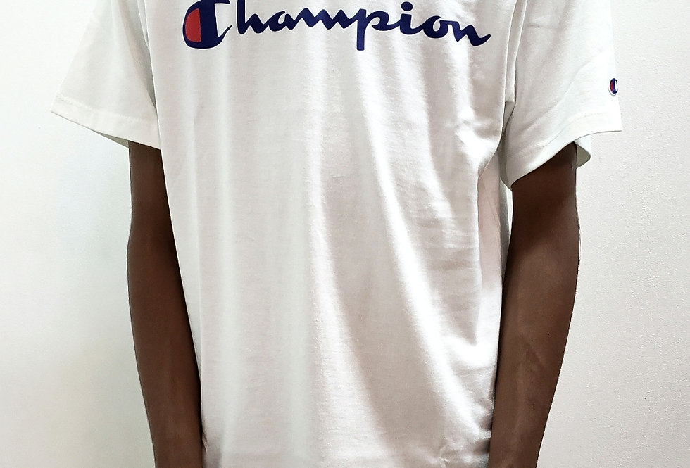 Camiseta Champion Script Logo Ink - White