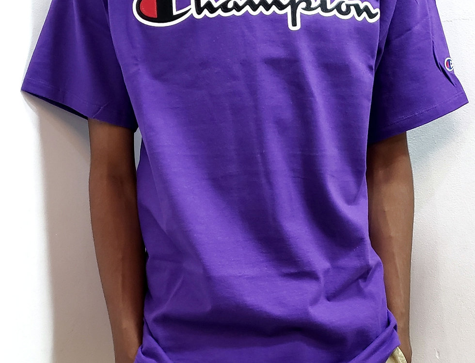 Camiseta Champion Classic Graphic Patch Logo Tee - Purple