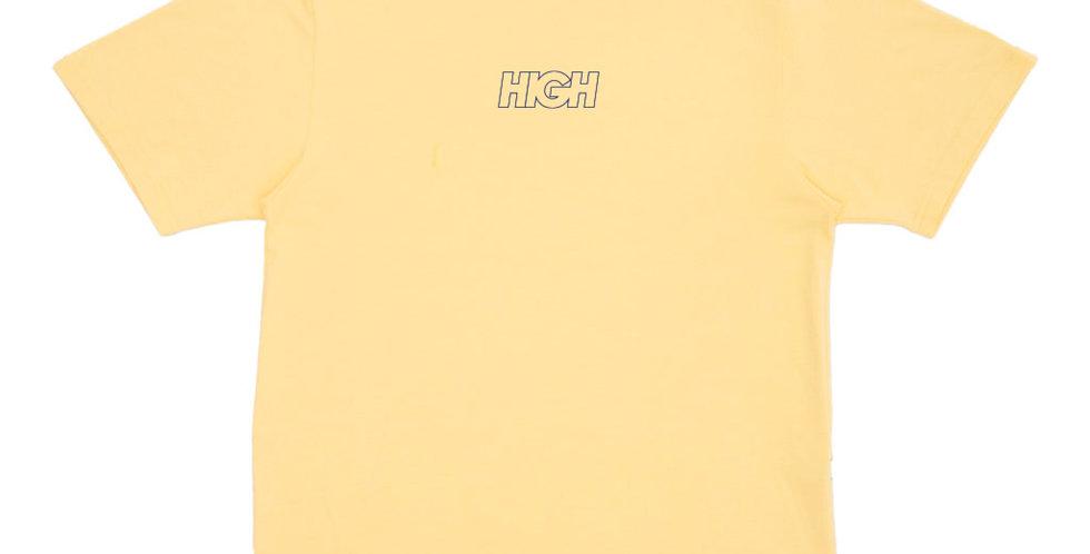 Camiseta HIGH Outline Logo Soft Tee - Yellow/Navy