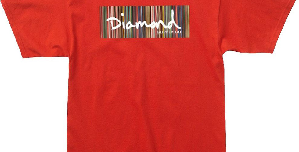 Camiseta Diamond Color Ply Box Logo Tee - Red