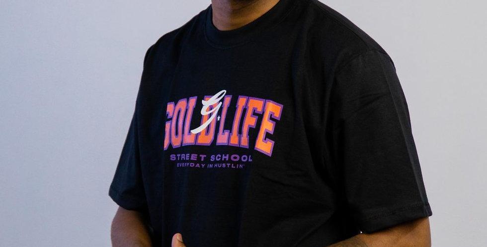 Camiseta Gold Life Street School - Black