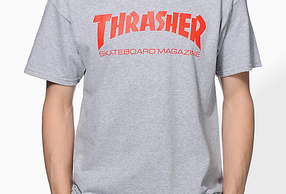Camiseta Thrasher Mag Skateboard - Gray
