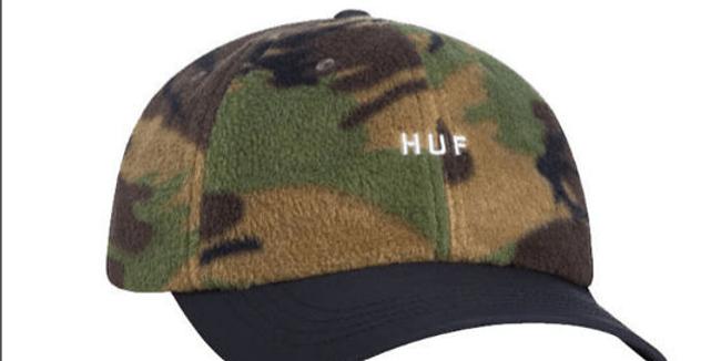 Boné Dad Hat HUF Polar Fleece - Camo