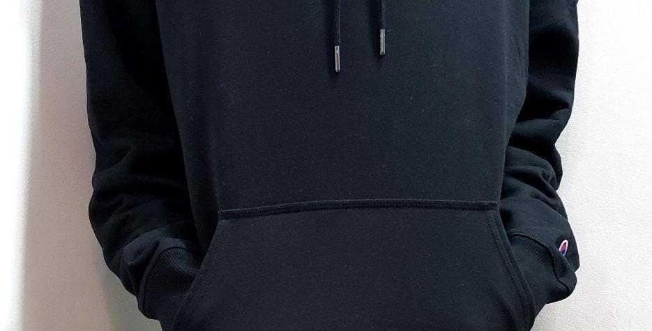 Moletom Champion Powerblend Graphic Patch Logo Hoodie - Black