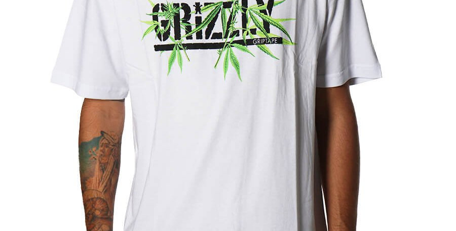 Camiseta Grizzly SEEDS STAMP Tee - White