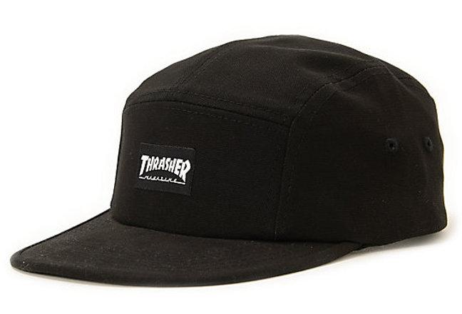 Boné Five Panel Thrasher Logo - Black