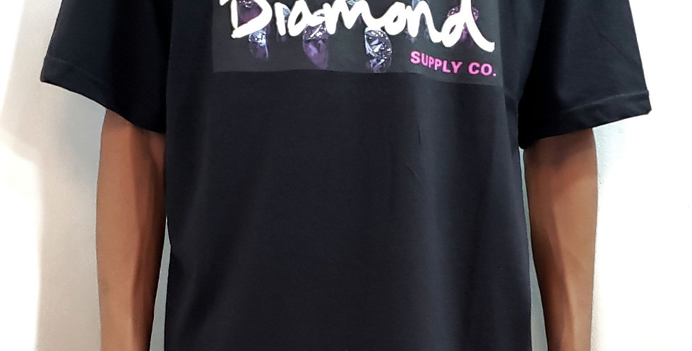 Camiseta Diamond Color Box Logo Tee - Black