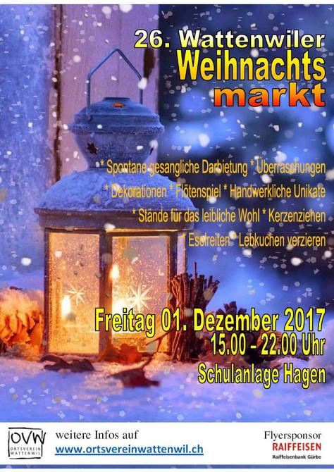 Weihnachtsmarkt Wattenwil 1.12.17